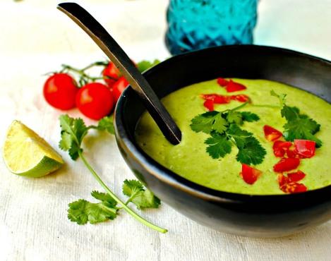 cream of avocado soup food to glow