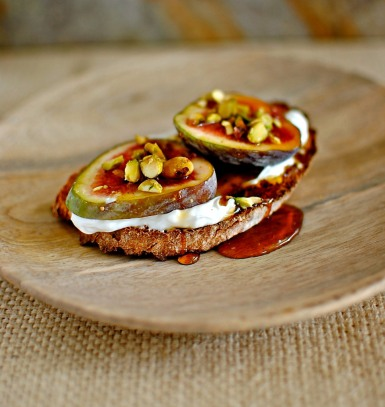 fig and labneh tartines