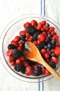 sugared berries