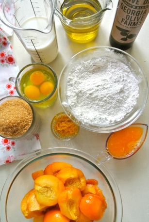 Peach Cake ingredients