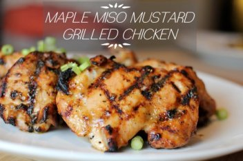 maple miso mustard grilled chicken